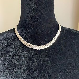 Ross-Simons Silver Graduated Byzantine Necklace